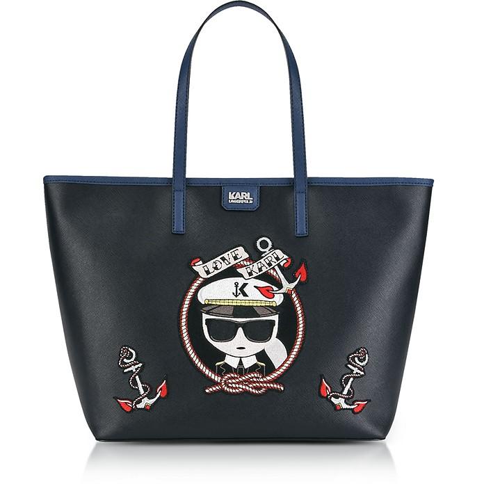 Black Captain Karl Shopper Bag - Karl Lagerfeld