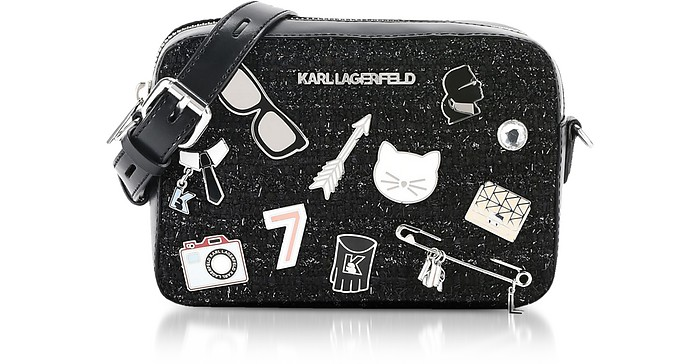 Black K/Klassik Pins Camera Bag - Karl Lagerfeld