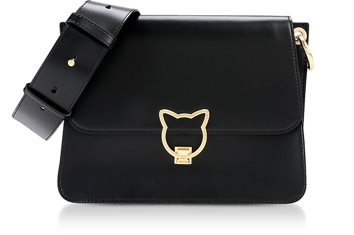 Black K/Kat Lock Shoulder Bag - Karl Lagerfeld