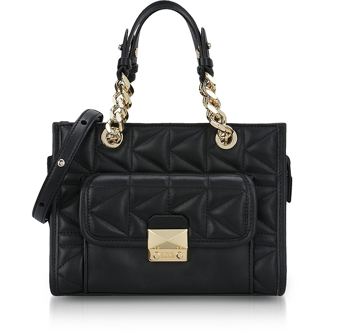 Black K/Kuilted Mini Tote Bag - Karl Lagerfeld