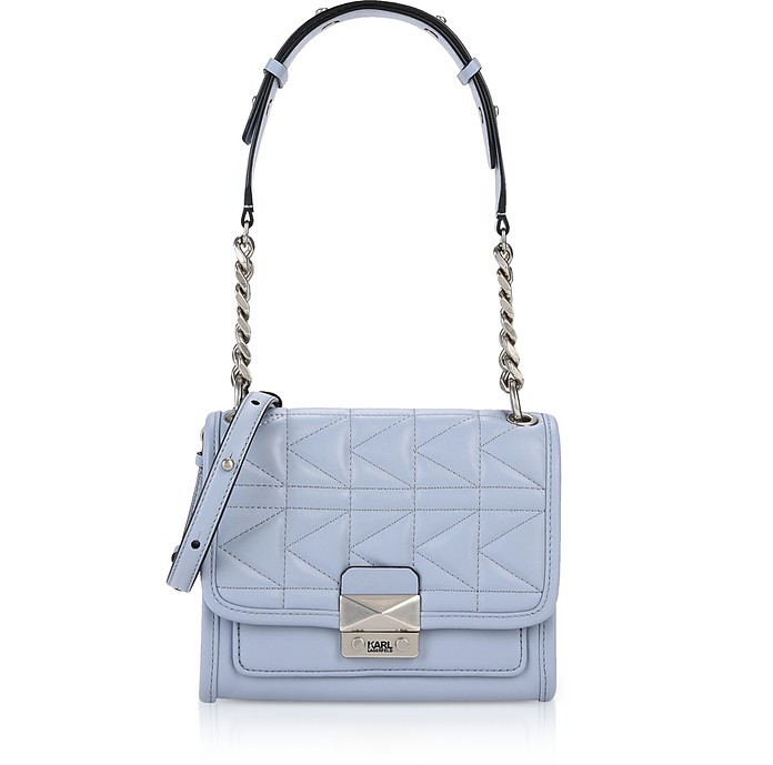 57381c559a Karl Lagerfeld Mystic Blue K Kuilted Mini Satchel Bag at FORZIERI