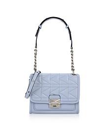 Mistic Blue K/Kuilted Mini Satchel Bag - Karl Lagerfeld