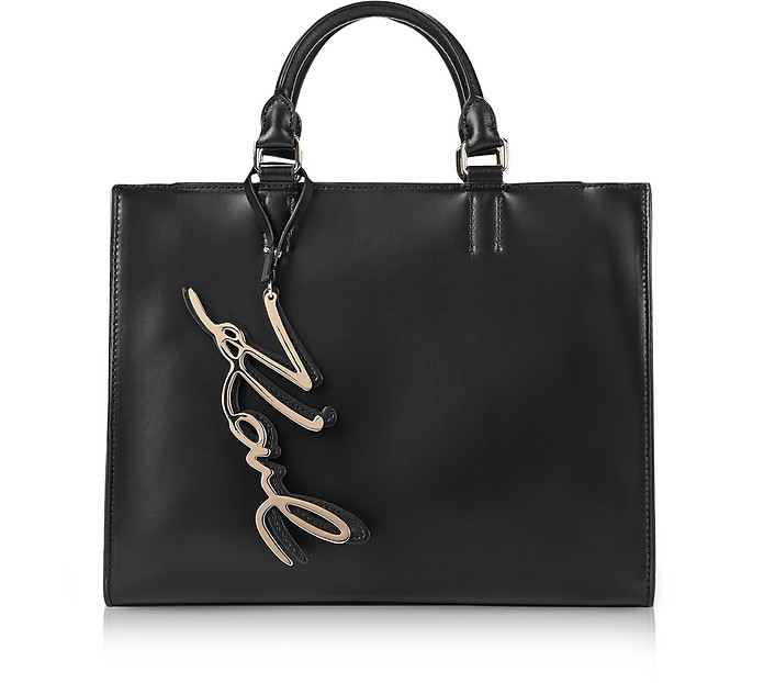 Black K/Signature Shopper Bag - Karl Lagerfeld