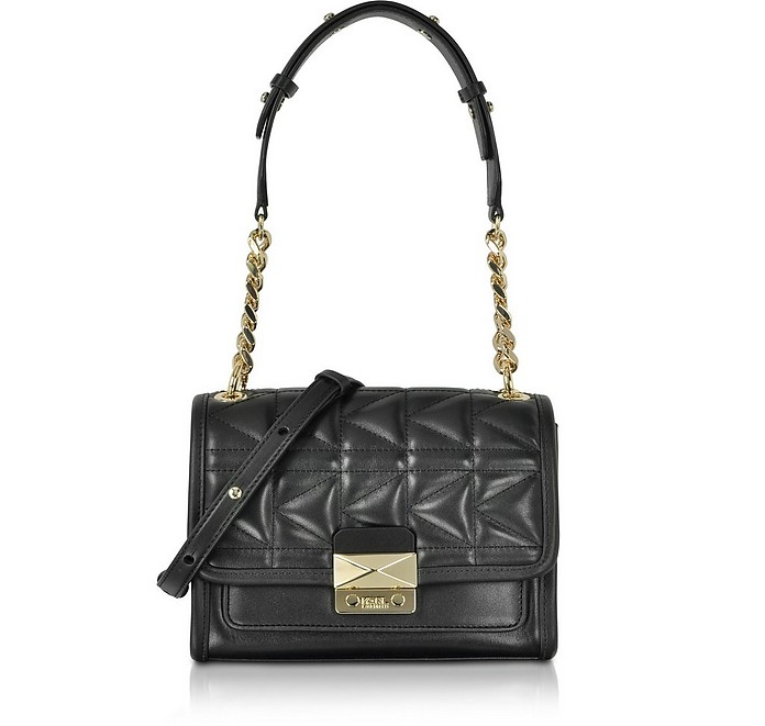 Black K/Kuilted Mini Satchel Bag - Karl Lagerfeld