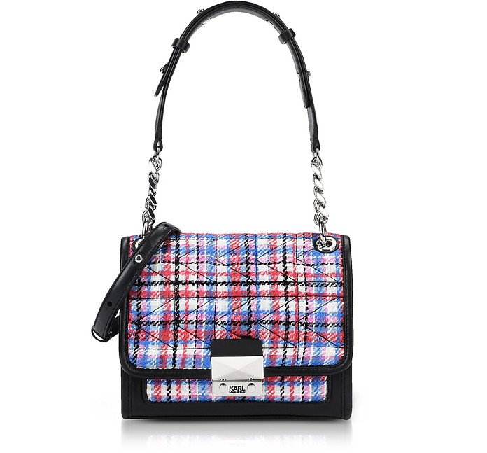 K/Kuilted Tweed Mini Satchel Bag - Karl Lagerfeld