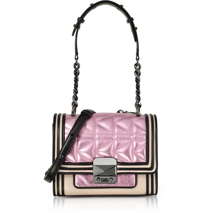 Metallic Pink K/Kuilted Mini HandBag - Karl Lagerfeld