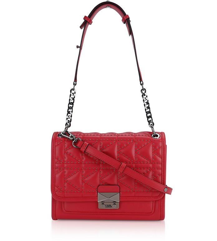 K/Kuilted Rosewood Studs Handbag - Karl Lagerfeld