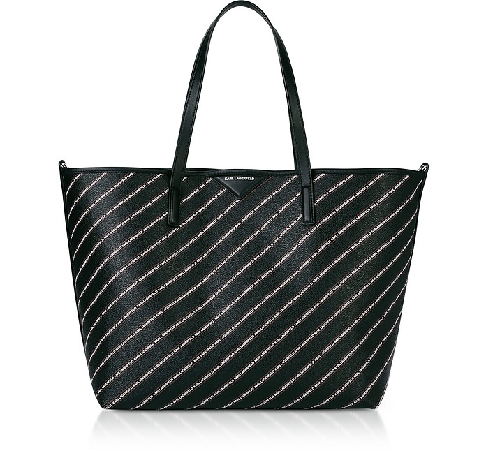 K/Stripe Logo Shopper - Karl Lagerfeld