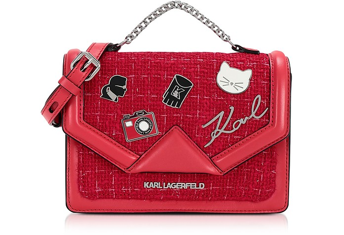 K/Klassic Pins Medium Shoulder Bag - Karl Lagerfeld