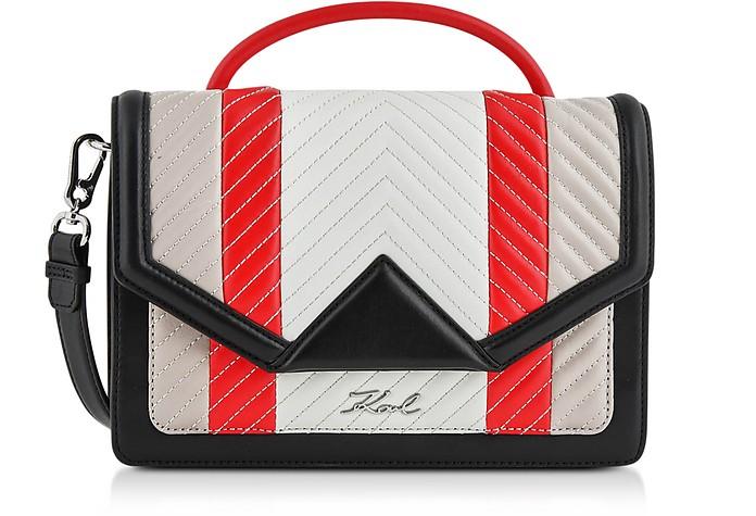 K/Klassic Multicolor Quilted Leather Shoulder Bag - Karl Lagerfeld