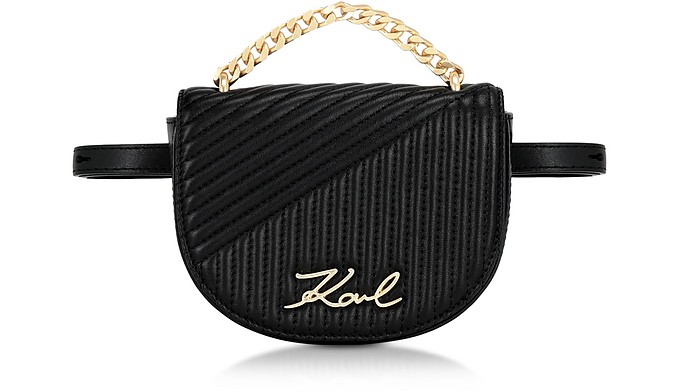 K/Signature Quilted Belt Bag - Karl Lagerfeld