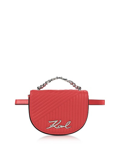 K/Signature Quilted Belt Bag - Karl Lagerfeld
