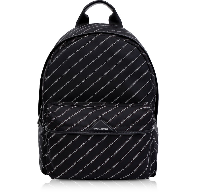 K/Stripe Logo Nylon Backpack - Karl Lagerfeld