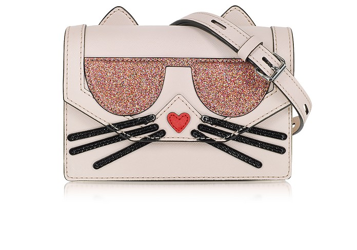 K/Kocktail Choupette Crossbody Bag w/Glitter - Karl Lagerfeld