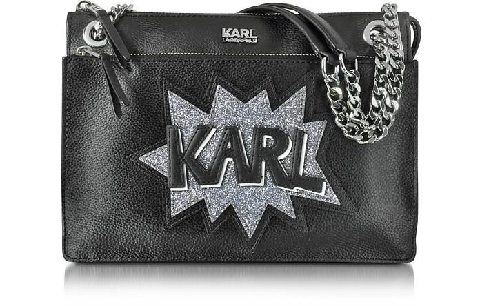 K/Pop Shoulder Bag w/Glitter - Karl Lagerfeld