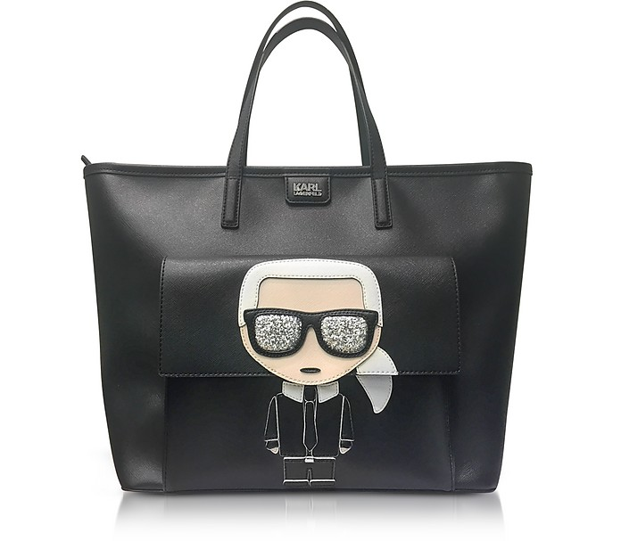 Karl Lagerfeld Kikonik Face Tote Bag At Forzieri Uk
