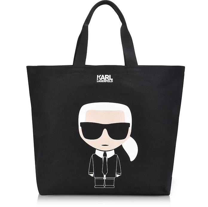 Karl Lagerfeld Kikonik Canvas Shopper Bag At Forzieri Uk