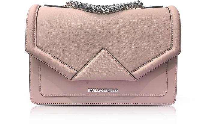85cf607d8cc5a Karl Lagerfeld K Klassik Pink Ballet Leather Shoulder Bag at FORZIERI