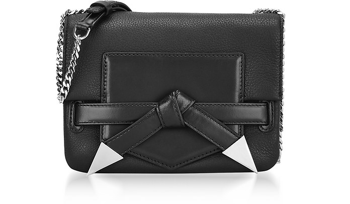 6cd4ee0b6c3e Karl Lagerfeld Black Leather K Rocky Bow Crossbody Bag at FORZIERI ...