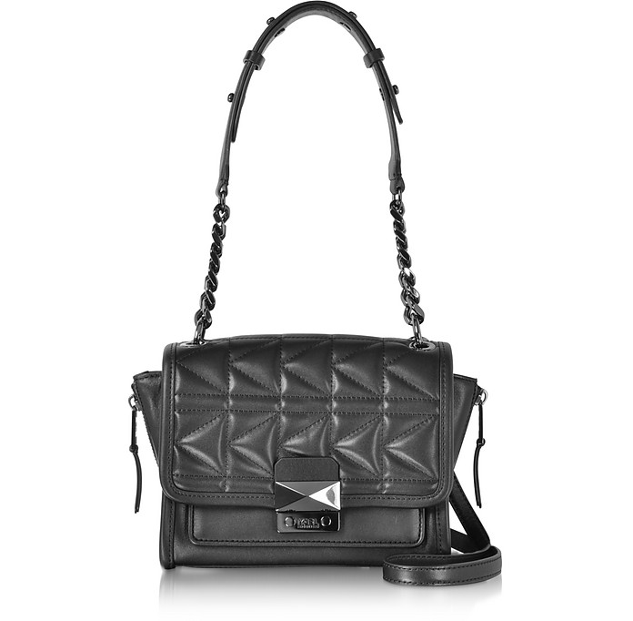 K/Kuilted Crossbody Bag in Gold and Black Calf Leather Karl Lagerfeld p1jWUe9rj7