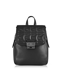 K/Kuilted Black Leather Small Backpack - Karl Lagerfeld