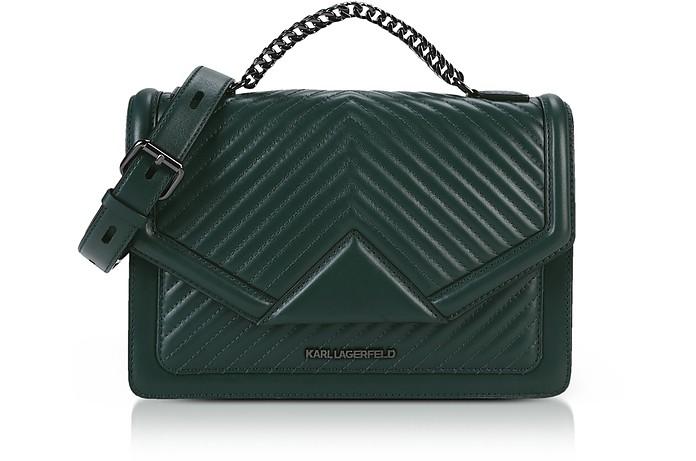 29baa8a61f Karl Lagerfeld Emerald Green K Klassik Quilted Shoulder Bag at ...