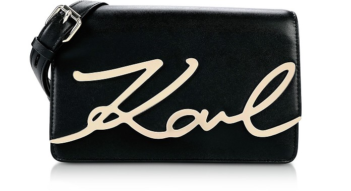 K/Signature Shoulder Bag  - Karl Lagerfeld