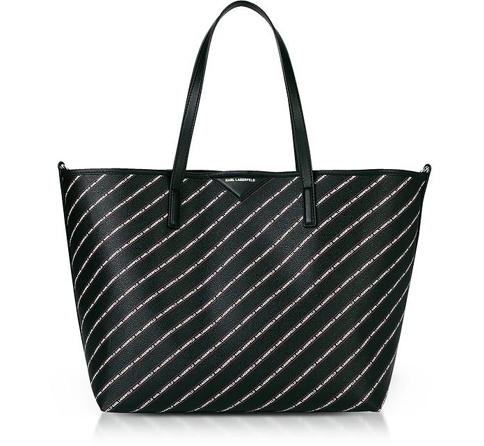K/Stripe Logo Shopper - Karl Lagerfeld