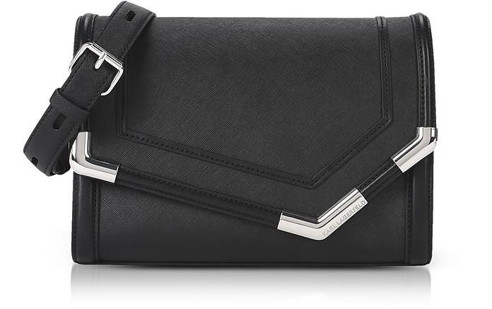 K/Rocky Saffiano Shoulder Bag - Karl Lagerfeld