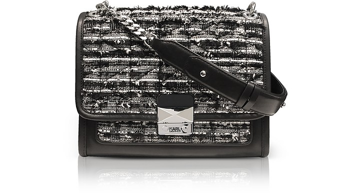 K/Kuilted Tweed Handbag - Karl Lagerfeld