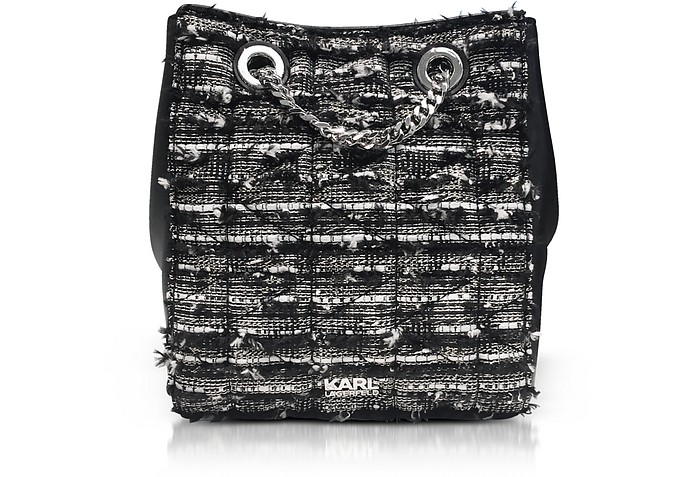 K/Kuilted Tweed Bucket Bag - Karl Lagerfeld