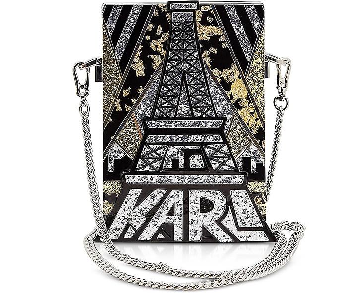 Art Deco Minaudiere Clutch - Karl Lagerfeld