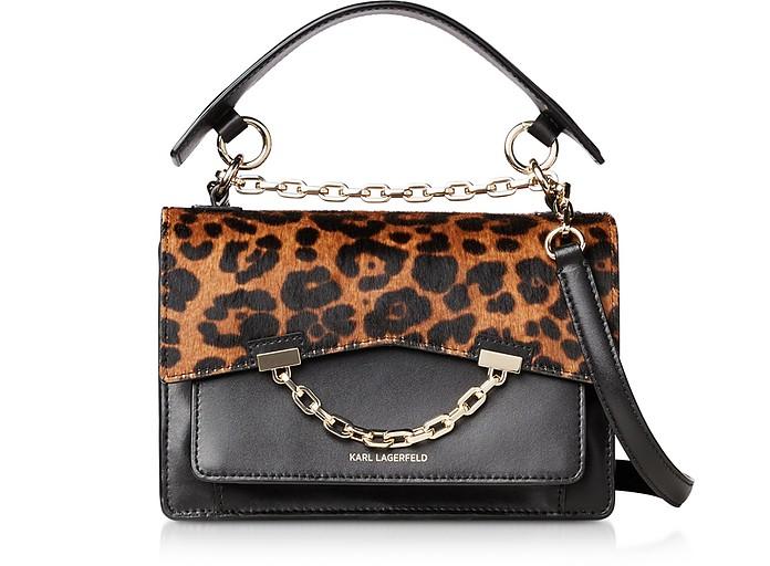 K/Karl Seven Leopard Shoulder Bag - Karl Lagerfeld