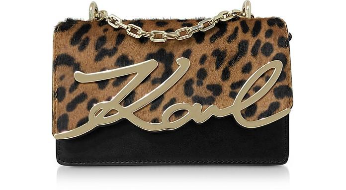 K/Signature Leopard Small Shoulder Bag - Karl Lagerfeld