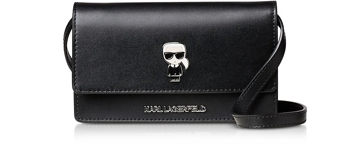 K/Ikonik Pin Flat Wallet Clutch - Karl Lagerfeld