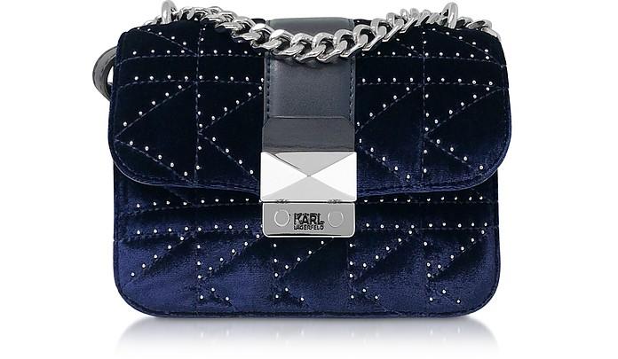 K/Kuilted Studs Velvet Crossbody Bag - Karl Lagerfeld