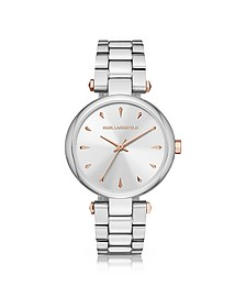 Aurelie Stainless Steel Women's Quartz Watch w/Signature Dial - Karl Lagerfeld