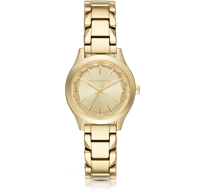 Janelle Gold-tone PVD Stainless Steel Women's Quartz Watch - Karl Lagerfeld / カール ラガーフェルド