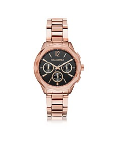 Optik Rose Gold PVD Stainless Steel Women's Chronograph Watch - Karl Lagerfeld