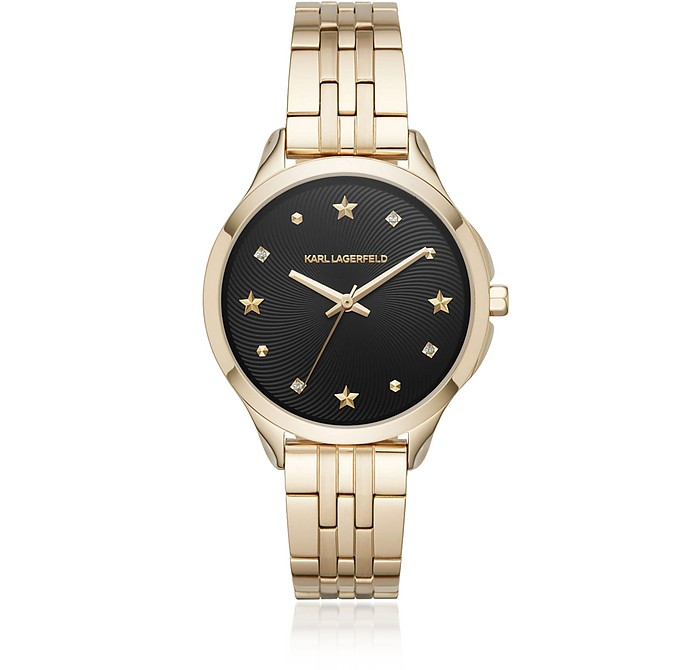Karoline Gold-Tone Watch - Karl Lagerfeld