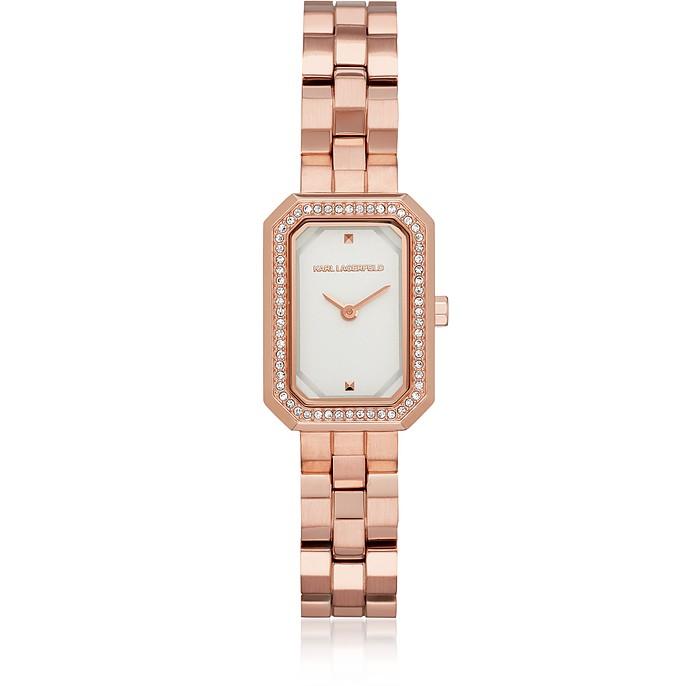 Женские Часы Linda Оттенка Розового Золота с Кристаллами - Karl Lagerfeld
