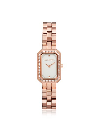 Linda Rose Gold and Crystal Women's Watch - Karl Lagerfeld