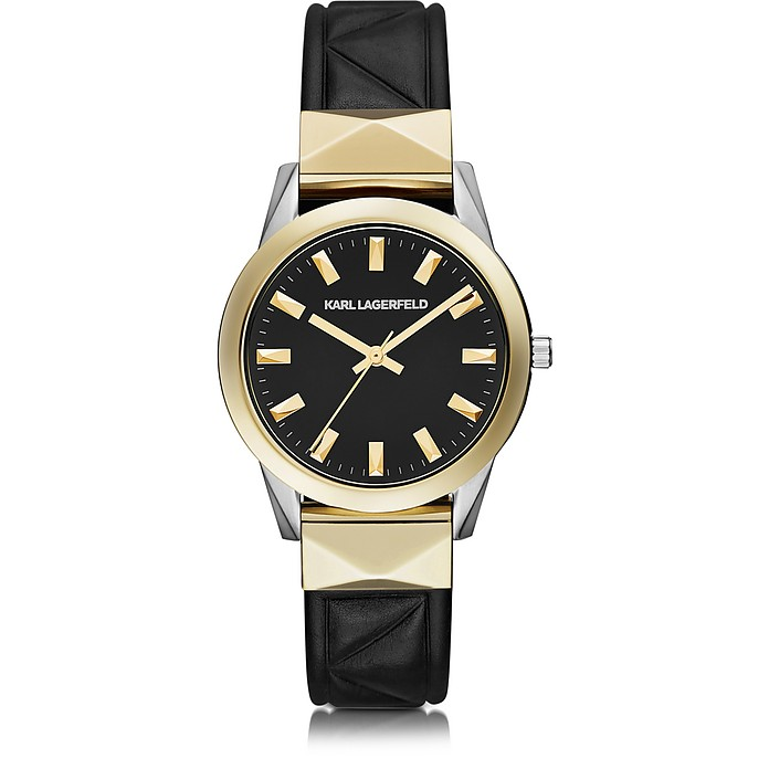 Labelle Stud Klassic Black and Gold Women's Watch - Karl Lagerfeld