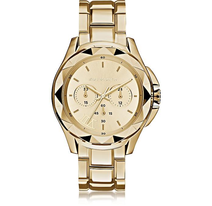 Karl 7 Iconic Unisex Golden Chronograph Watch - Karl Lagerfeld
