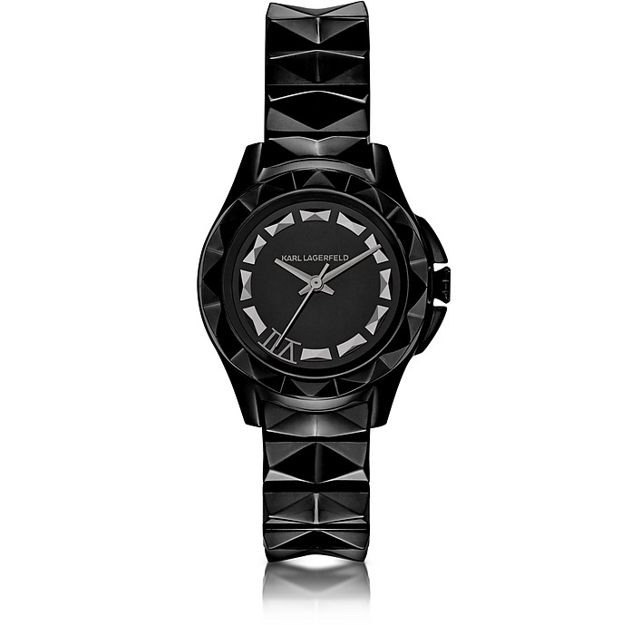 Karl 7 30 mm Black IP Stainless Steel Women's Watch - Karl Lagerfeld