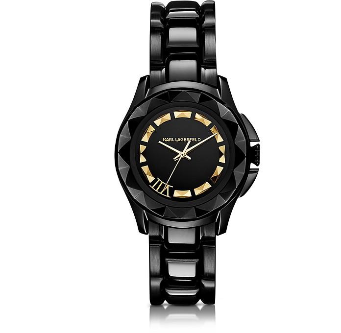 Karl 7 36 mm Black/Gold IP Stainless Steel Unisex Watch - Karl Lagerfeld