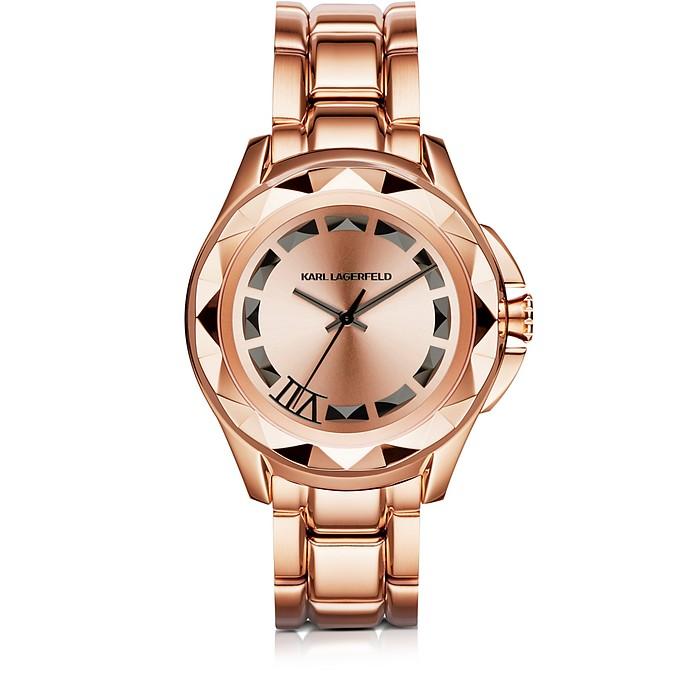 Iconic Rose Glod Stainlees Steel Unisex Watch - Karl Lagerfeld