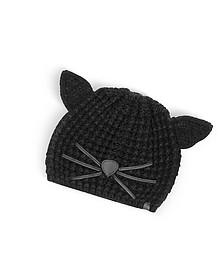 Black Choupette Knit Hat - Karl Lagerfeld