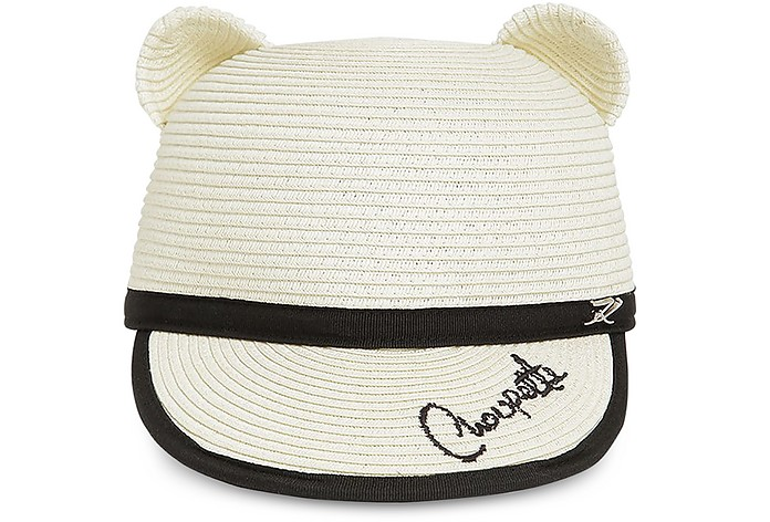 Choupette Natural Straw Ears Cap - Karl Lagerfeld