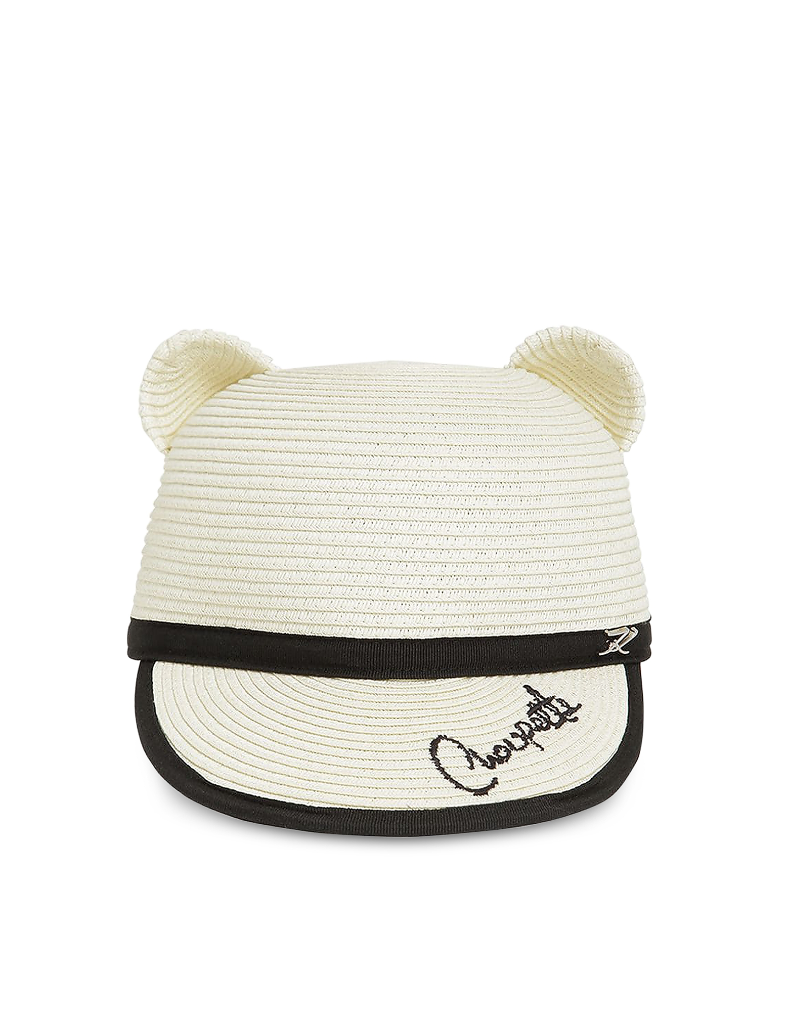 Karl Lagerfeld Accessories CHOUPETTE NATURAL STRAW EARS CAP